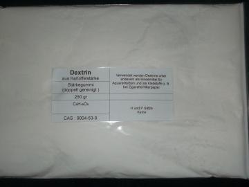 250 g Dextrin aus Kartoffelstärke, Stärkegummi, Bindemittel für Aquarellfarben