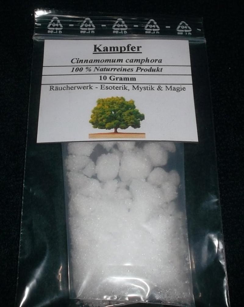 10 g Kampfer, Campfer, 100% Natur, Räucherwerk für Esoterik, Mystik & Magie