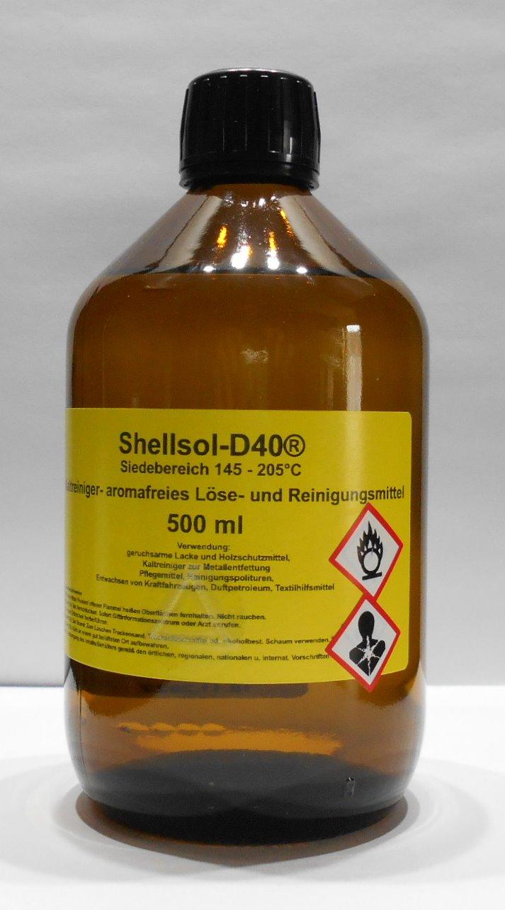 500 ml Shellsol-D40®, Kaltlreiniger, aromafreies Lösungsmittel, Iso Aliphatan Siedebereich 145 - 205°C