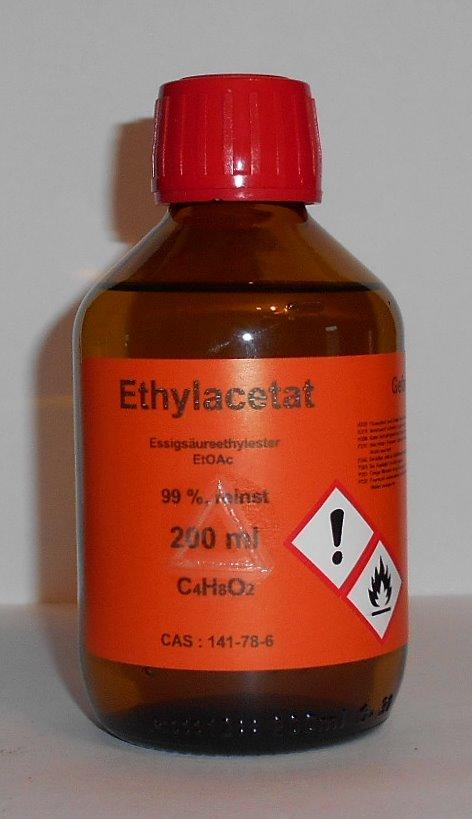 200 ml Ethylacetat, >99% Essigsäureethylester, für Chromatographie, Lösungsmittel