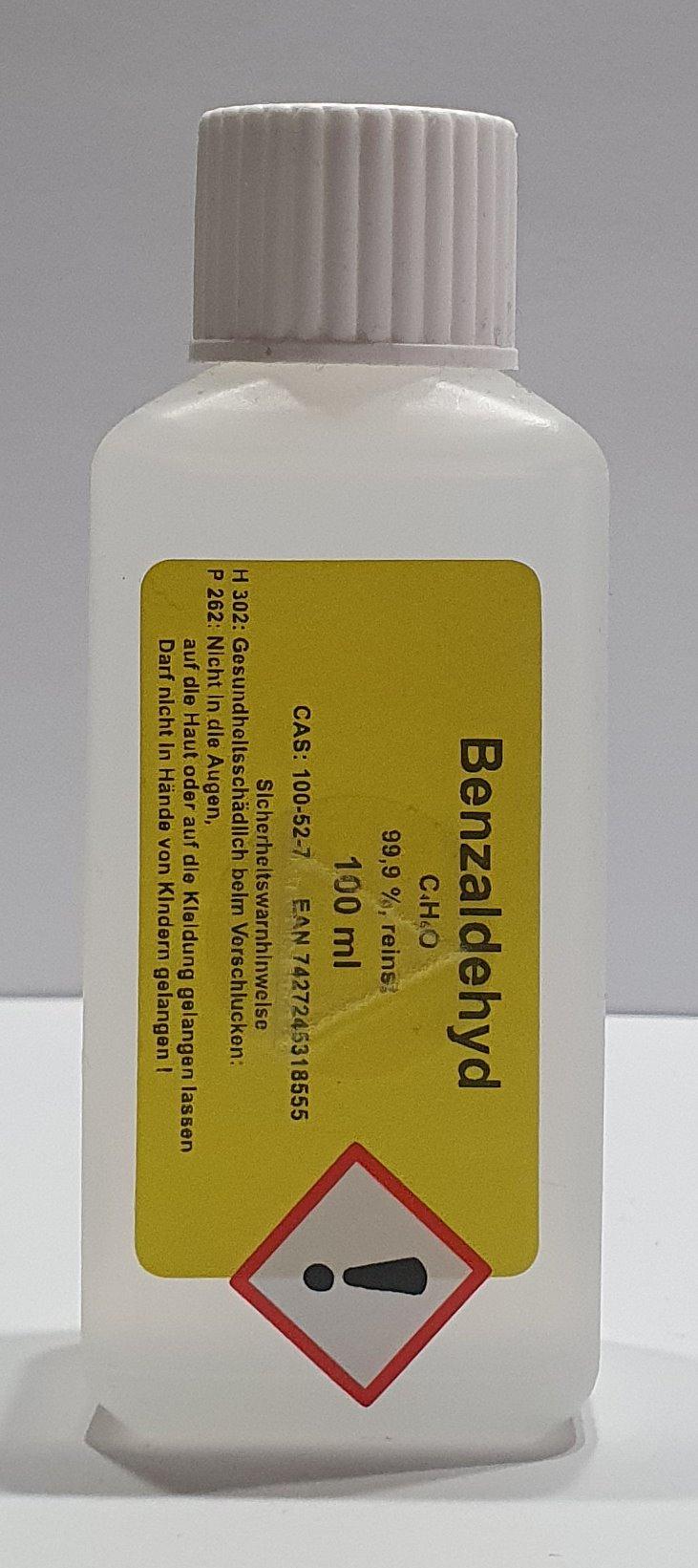 100 ml Benzaldehyd Benzaldehyde 99,9% Bitter Mandel Aroma