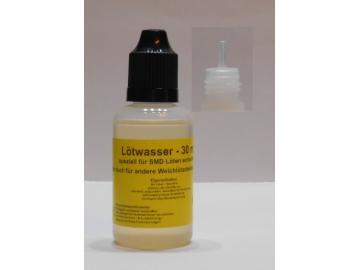30 ml Lötwasser, Flussmittel speziell für SMD (no clean, Säurefrei) - kurze Flasche