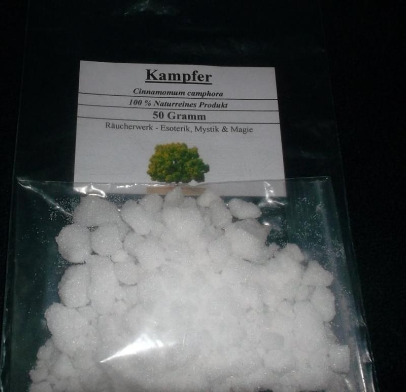 50 g Kampfer, Campfer, 100% Natur, Räucherwerk für Esoterik, Mystik & Magie