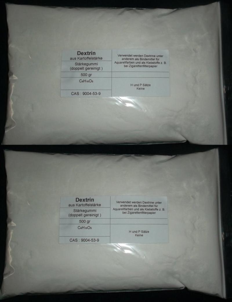 1000 g Dextrin aus Kartoffelstärke, Stärkegummi, Bindemittel für Aquarellfarben