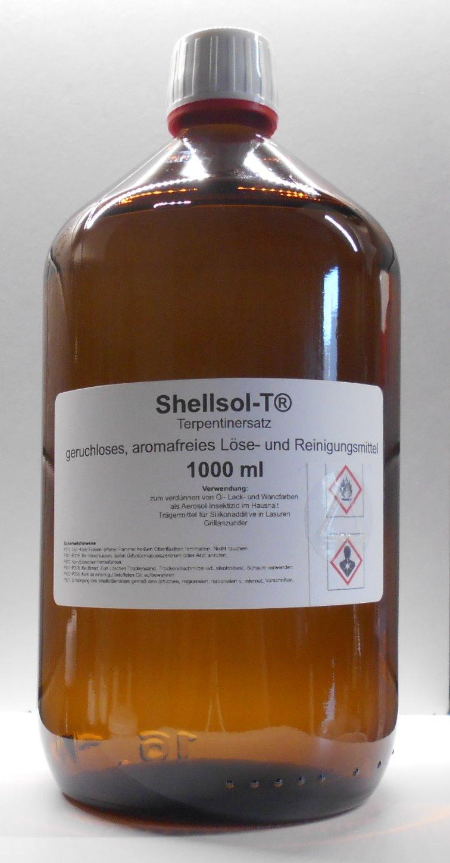 1000 ml Shellsol-T®, Terpentinersatz, geruchslos, Lösungsmittel, Pinselreiniger