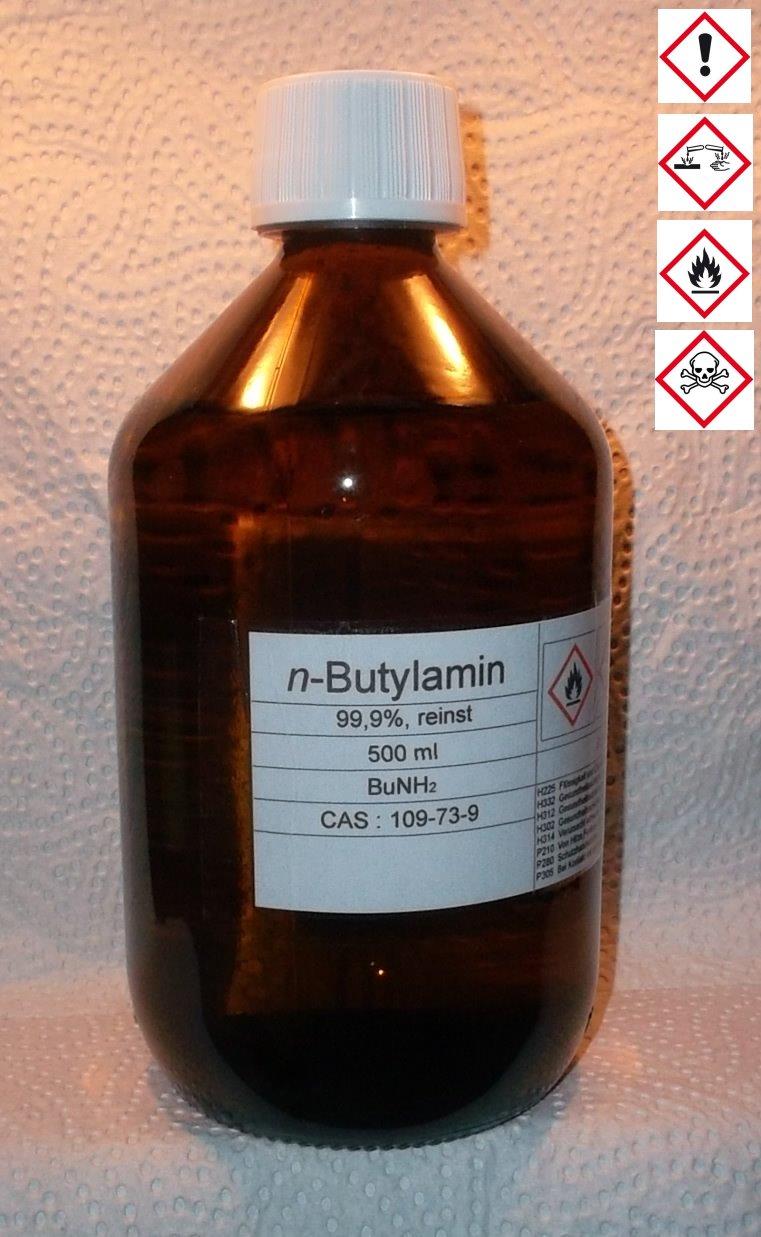 500 ml n-Butylamin 99,9%, MBA, Weichmacher, Emulgator