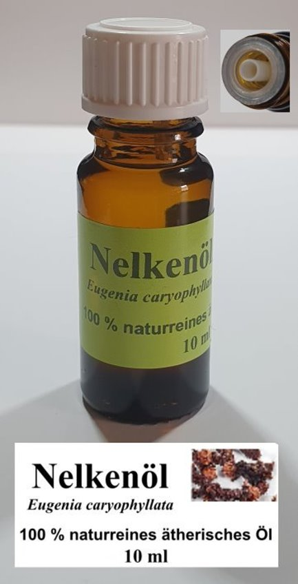 10 ml Nelkenöl (Eugenia caryophyllata), Gewürznelkenöl, 100% BIO naturreines ätherisches Öl