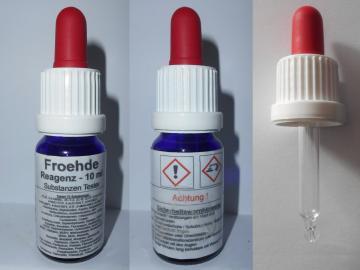 Substanzen Tester - Fröhde Reagenz 10 ml mit Farbskala - Testet 72 Substanzen